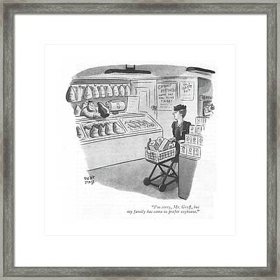 I'm Sorry, Mr. Groff, But My Family Has Come Framed Print by Robert J. Day