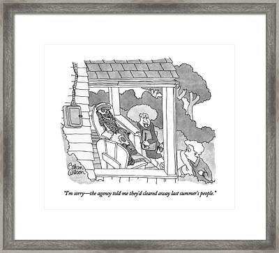 I'm Sorry - The Agency Told Me They'd Cleared Framed Print