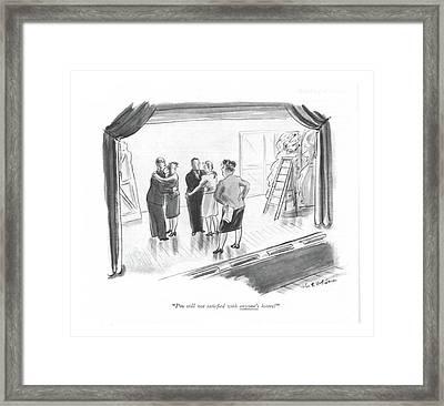 I'm Still Not Satis?ed With Anyone's Kisses! Framed Print by Helen E. Hokinson