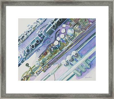 I'm Still Painting On The Keys Framed Print by Jenny Armitage
