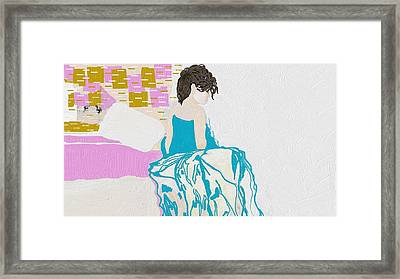 I'm Still Workning On It Framed Print by Catherine Lott