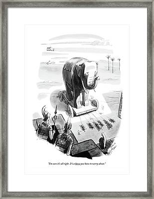 I'm Sure It's All Right. It's A Horse Framed Print by Richard Decker