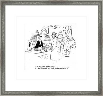 I'm Sure She'll Simply Adore Framed Print by  Alain