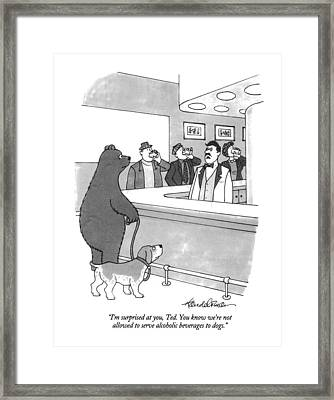 I'm Surprised Framed Print by J.B. Handelsman