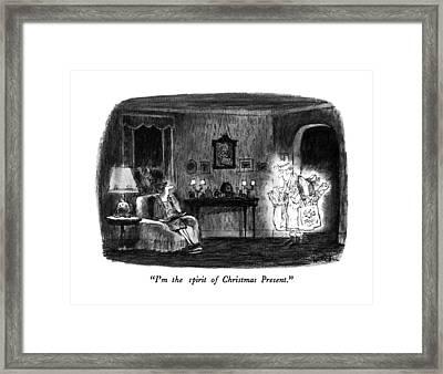 I'm The Spirit Of Christmas Present Framed Print by Robert Weber
