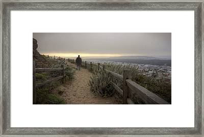 I'm Walking In The Wind Looking At The Sky Framed Print by Peter Thoeny