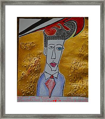 I'm Your Man - Sung By Leonard Cohen And  Doctor Faustus.happy New Year 2013.viewed 265 Times  Framed Print by  Andrzej Goszcz