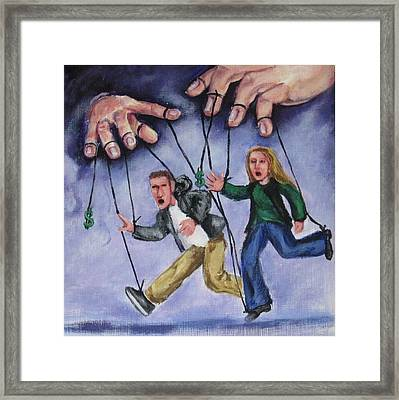 I'm Your Puppet Framed Print by Cathi Doherty
