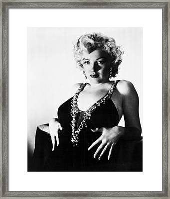 Marilyn Monroe Eyes Framed Print by Retro Images Archive