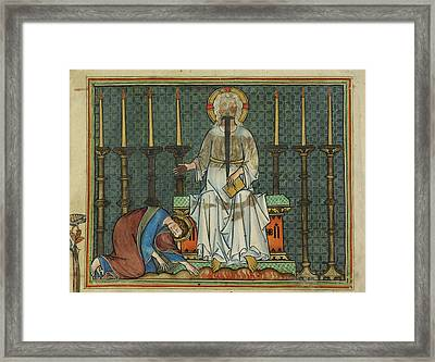 Image From St John's Apocalypse Framed Print by British Library