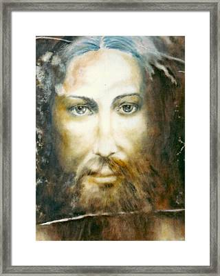 Image Of Christ Framed Print by Henryk Gorecki