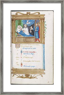 Image Of Deathbed Scene Framed Print by British Library