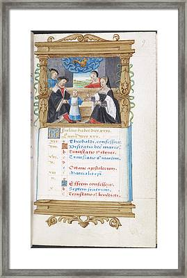 Image Of Noble Family With Young Child Framed Print by British Library