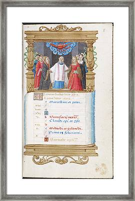 Image Of Noble Wedding Framed Print by British Library