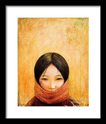 Asian Girl Framed Prints