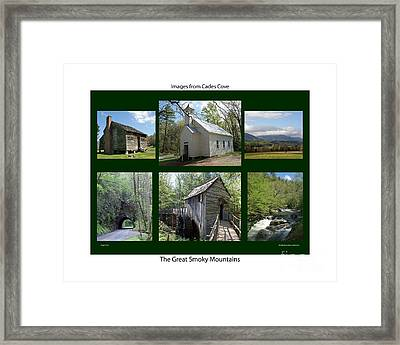 Images From Cades Cove Framed Print by Roger Potts