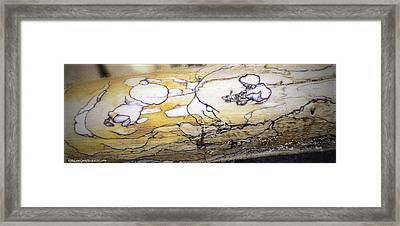Images In Drift Wood Framed Print by LeeAnn McLaneGoetz McLaneGoetzStudioLLCcom