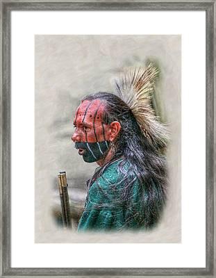 Images Of Cook Forest Native American Warrior Portrait Framed Print