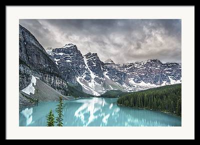 Blue-gray Framed Prints