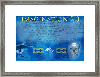 Imagination 2.0 Framed Print by Diskrid Art