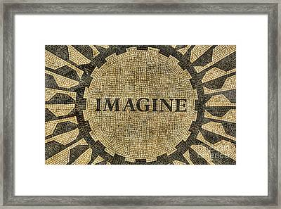 Framed Print featuring the photograph Imagine - John Lennon by Lee Dos Santos
