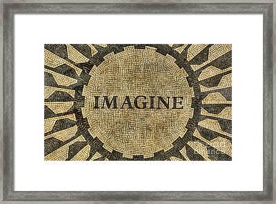 Imagine - John Lennon Framed Print by Lee Dos Santos
