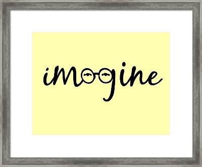 Imagine - John Lennon  Tribute Framed Print by Denis Marsili