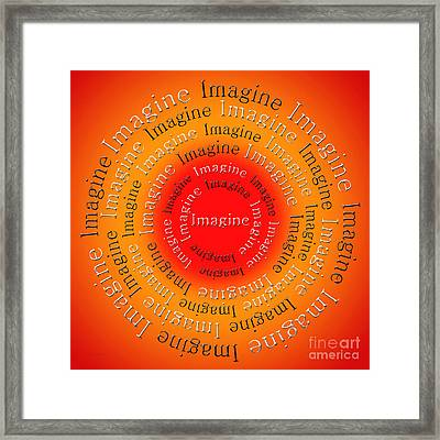 Imagine 5 Framed Print by Andee Design