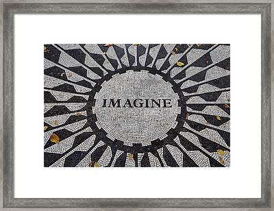 Imagine A World Of Peace Framed Print