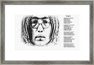 Imagine Framed Print by Bill Cannon