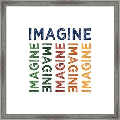Imagine Cute Colorful Framed Print