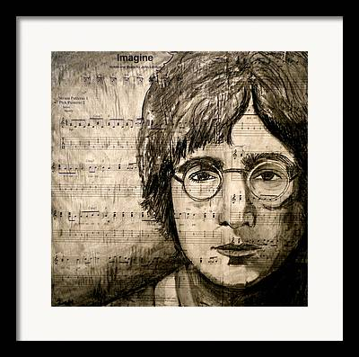 Famous Songs Mixed Media Framed Prints