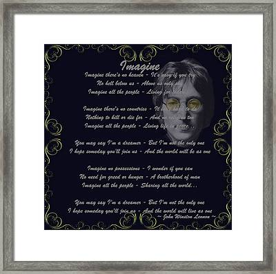Imagine Golden Scroll Framed Print by Movie Poster Prints