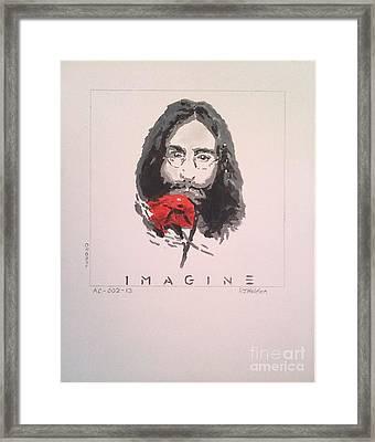 Imagine - John Lennon 1973 Framed Print by Richard John Holden RA