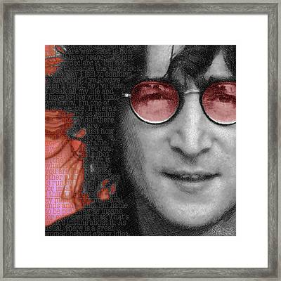 Imagine John Lennon Again Framed Print by Tony Rubino