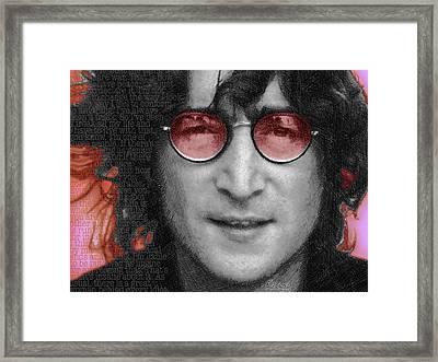 Imagine John Lennon  Framed Print by Tony Rubino