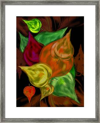 Imagine Leaves Framed Print