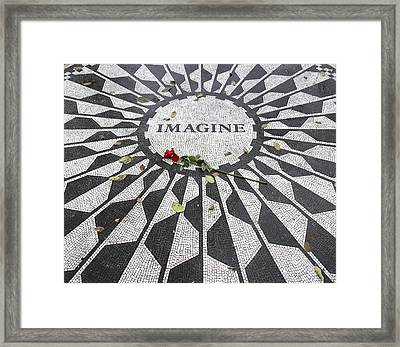 Imagine Mosaic Framed Print