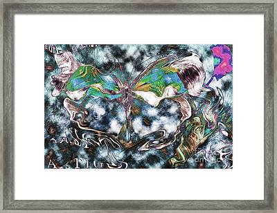 Imagine Number 2 Butterfly Art Framed Print by Andy Prendy