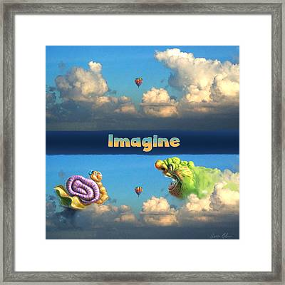 Imagine Snail And Ogre Framed Print by Aaron Blaise