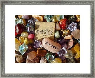 Imagine Success Framed Print