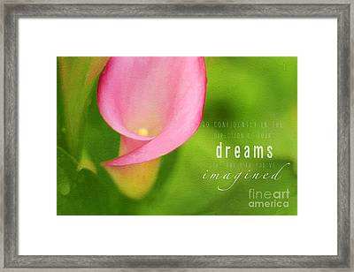 Imagined Framed Print by Darren Fisher