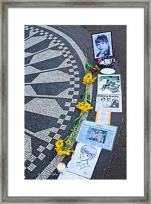 Imagine....john Lennon Framed Print