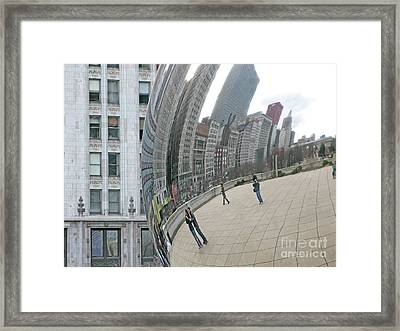 Framed Print featuring the photograph Imaging Chicago by Ann Horn