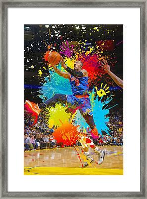 Iman Shumpert Of The New York Knicks Shoots Framed Print by Don Kuing