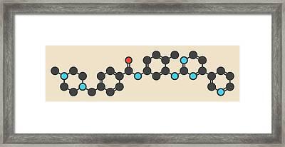 Imatinib Cancer Drug Molecule Framed Print