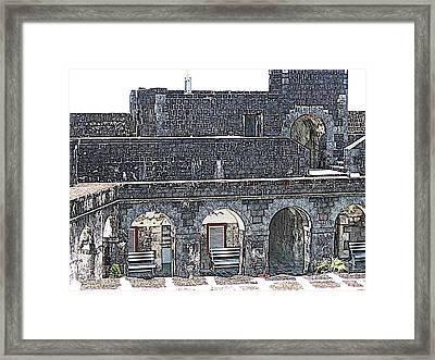 Fort Brimstone, St Kitts/nevis Framed Print