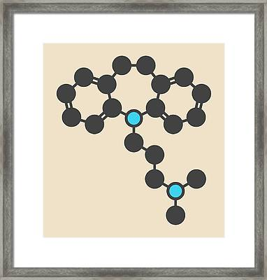 Imipramine Antidepressant Drug Molecule Framed Print
