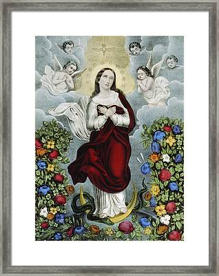 Immaculate Conception Circa 1856  Framed Print by Aged Pixel