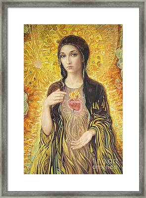 Immaculate Heart Of Mary Olmc Framed Print by Smith Catholic Art